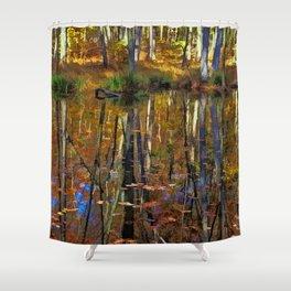 Autumn Reflections Shower Curtain