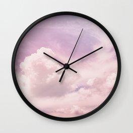 Lavender Sky Wall Clock
