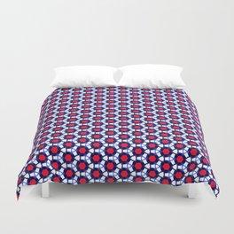 Red & Blue Pattern Duvet Cover