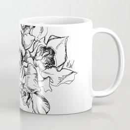 Flowers Line Drawing Coffee Mug