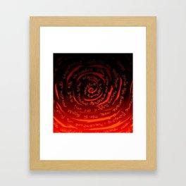 Rolled words Framed Art Print