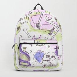 memento mori horror pattern Backpack