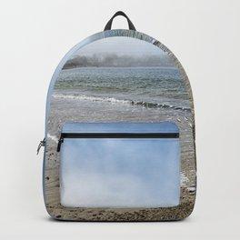 Fog rolling in on Niles Beach 5-9-18 Backpack