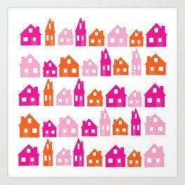 Little Village Orange Art Print