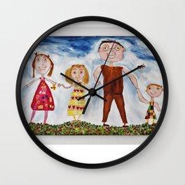 My Family - by Amnon Michaeli Wall Clock