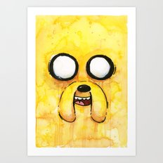 Jake Face Yellow Dog Cartoon Character Art Print