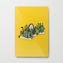 Hug a plant Metal Print