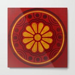 Kamon Alma –Red Metal Print