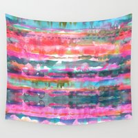 stripe Wall Tapestries featuring Kiana Stripe by Schatzi Brown