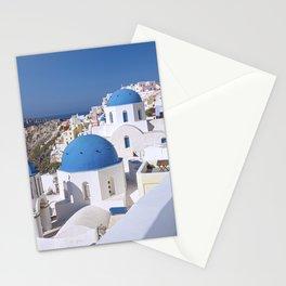 Oia Village in Santorini Stationery Cards
