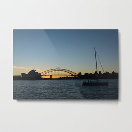 Sydney at sunset Metal Print
