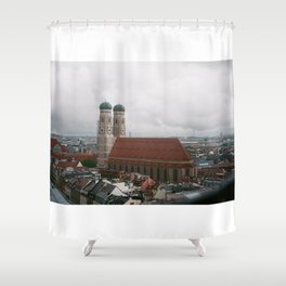 Rainy day in Munich Shower Curtain