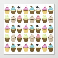 cupcakes Canvas Prints featuring Cupcakes by heartlocked
