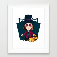 willy wonka Framed Art Prints featuring Willy Wonka by 7pk2 online