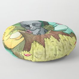 Woodland Animal Picnic Floor Pillow