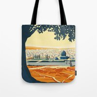 palestine Tote Bags featuring Palestine by Lost & Found