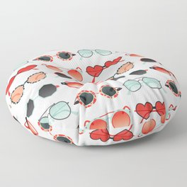 Sunglasses Collection – Red & Mint Palette Floor Pillow