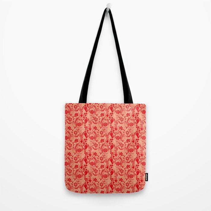 motif red flower 5 Tote Bag