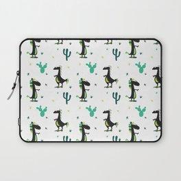 Cute Desert Dinosaurs (white) Laptop Sleeve