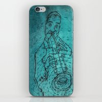 louis armstrong iPhone & iPod Skins featuring Louis Armstrong by Cristina Curto