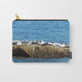 Herd of Seals on a Huge Boulder Carry-All Pouch