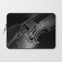 Black and White Violin Laptop Sleeve