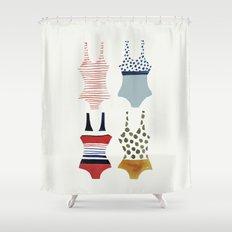 la nage Shower Curtain