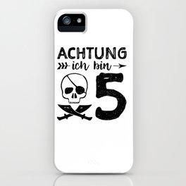 Achtung Ich Bin 5 iPhone Case