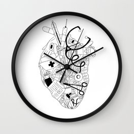 Heart of a Nurse Wall Clock