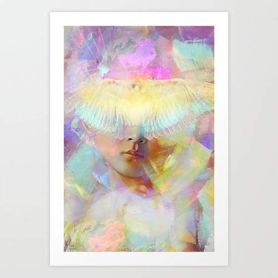 The look of the innocence Art Print