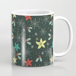 Christmas flower pattern Coffee Mug