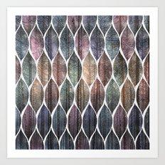 Metallic Leaf Pattern 2 Art Print
