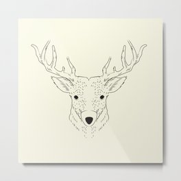 Hand-painted deer Metal Print