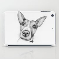 jack russell iPad Cases featuring Jack Russell (dog print) by gggh