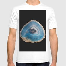 Blue Geode White MEDIUM Mens Fitted Tee