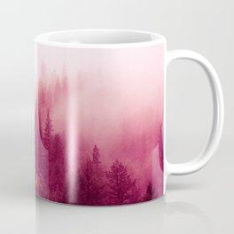 Red Forest Fog Coffee Mug