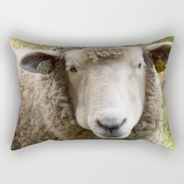Sweet Sheep Face Rectangular Pillow