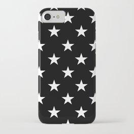 Stars (White/Black) iPhone Case