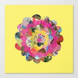 Collage Flower Canvas Print