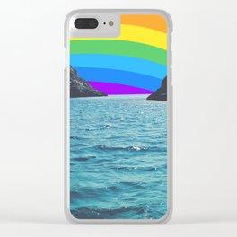 Rainbow Sky in the Ocean Clear iPhone Case