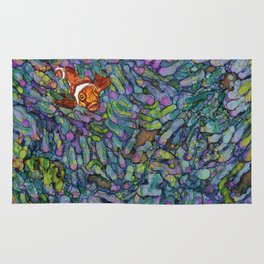 Clownfish - Alcohol Ink Rug