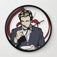 patrick Wall Clocks featuring Patrick Jane by Renan Lacerda