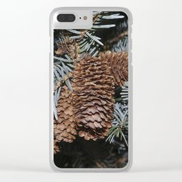 Spruce Cones And Branches Clear iPhone Case