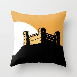 The Ancient Castle of Dusk Heights Throw Pillow