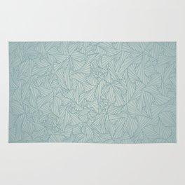 Gray Blue Retro Geometric Waltz Rug