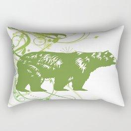 Green Bear Rectangular Pillow