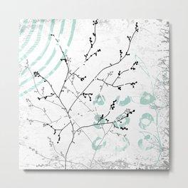 Aqua Simplicity Metal Print