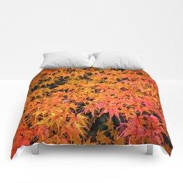 Japanese Maple Leaves Comforters