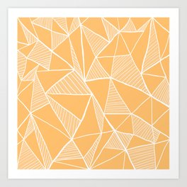 Peach orange pyramid pattern Art Print