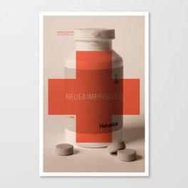 Neue Helvetica Canvas Print